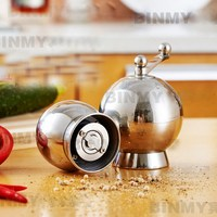 304 stainless steel pepper grinder kitchen manual pepper Mills seasoning grinding bottle mill