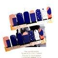 Ногтей Обертывания Наклейки, я Люблю Америку США Флаги, водонепроницаемый Ногтей Искусство Польский Гель Фольги Держать 2-3 недели