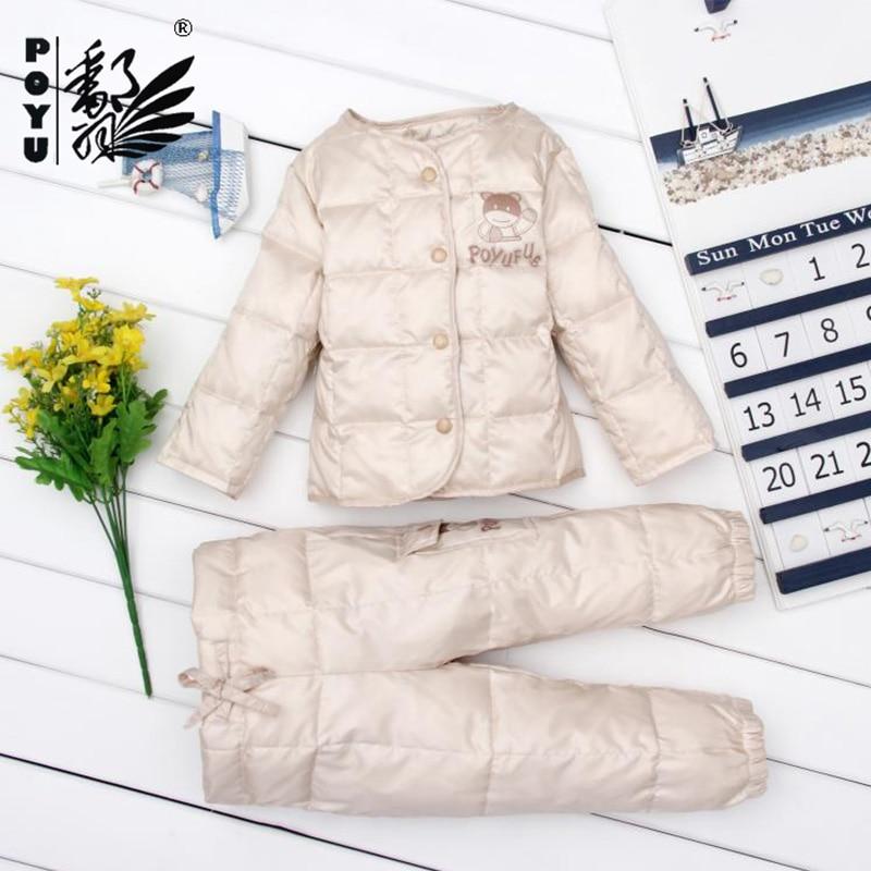 340c86521ebf Baby snowsuit new white duck down padded infant girls snow wear ...
