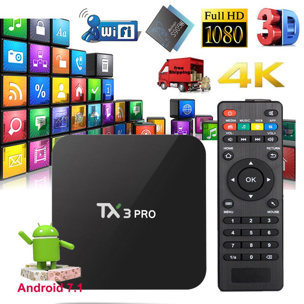TX3 PRO Android 7.1 Wifi TV Box Amlogic S905W Android quad core TV BOX 4K BOX Smart Media Player 1GB/8GB set-top box pk x96 mini цена