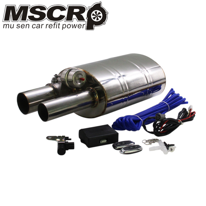 "Image 1 - Stainless Steel 2.5"" Straigh Outlet Tip 2.5""Inlet Weld On Single Exhaust Muffler with different sounds/Dump Valve Exhaust Cutout-in Mufflers from Automobiles & Motorcycles"