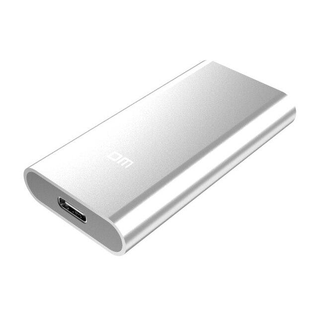 DM F300 Unità a stato solido Esterne 256GB Portatile SSD hard disk Esterno hdd per il computer portatile con il Tipo C USB 3.1