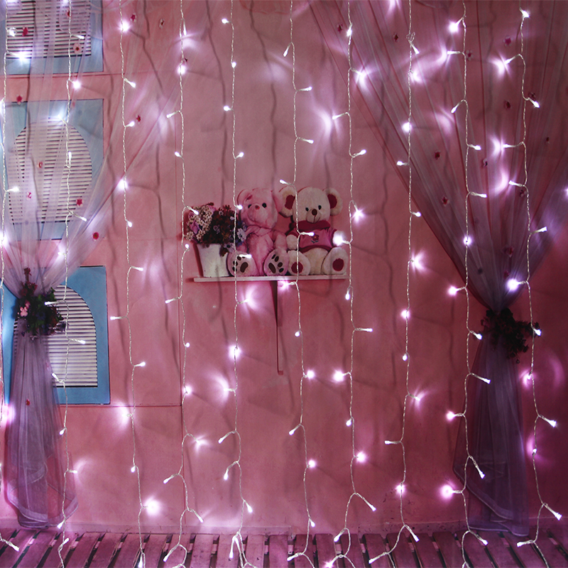 Fairy Icicle Lights Strip Curtain String Light LED Indoor Outdoor Festival Birthday Wedding Party Garden Decoration String Light