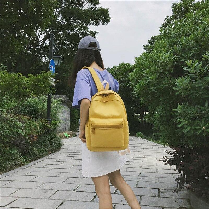 HTB1Og5oXN rK1RkHFqDq6yJAFXaG 2019 Women Canvas Backpacks Ladies Shoulder School Bag Backpack Rucksack for Girls Travel Fashion Bag Bolsas Mochilas Sac A Dos