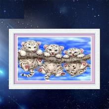 """5D quente Cheia de diamantes pintura ponto cruz """"Três tigres"""" diamant kit agulha de bordado patch de strass mosaico Decoração Da Sua Casa"""