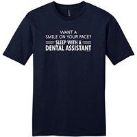 OKOUFEN Criar Camisetas Online Impressão Dos Homens Da Tripulação Pescoço Curto Sorriso em seu Rosto Camisa de Dormir com uma Assistente de Dentista