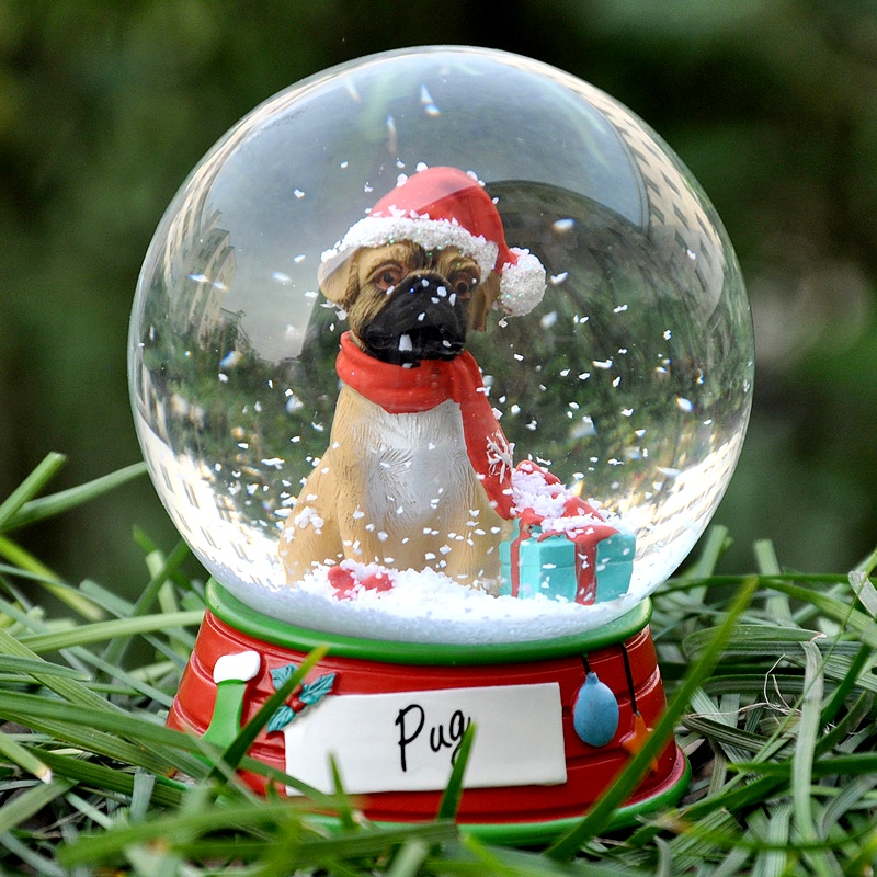 Cute Carton Pets Snow Round Crystal Ball Home Decoration Holiday Gift sets Pet Dog Statue Christmas Gifts Birthday Gift L-520