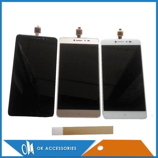 5.2 pouce Noir Blanc Or Couleur Pour BQ-5204 BQ 5204 Grève Selfie LCD Affichage à L'écran Tactile Digitizer Assemblée Avec du Ruban Adhésif