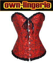 Steel boned embroidery corset Sexy Waist corsets women hot shapers body intimates corsets top w3113