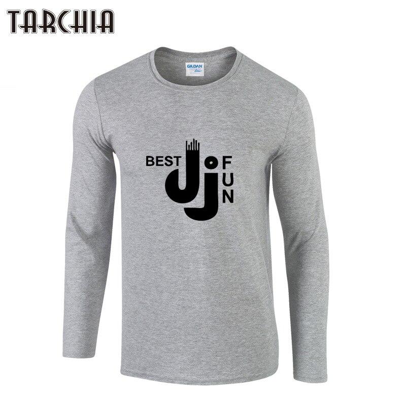 61bc90342 TARCHIA رجل مصمم القمصان الأزياء 2019 الربيع إلكتروني طباعة فستان بكم طويل  قمصان الرجال عارضة الذكور T قميص العلامة التجارية الملابس