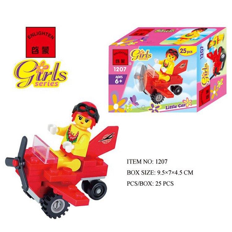 1207 25pcs Vehicle Constructor Model Kit Blocks Compatible LEGO Bricks Toys For Boys Girls Children Modeling