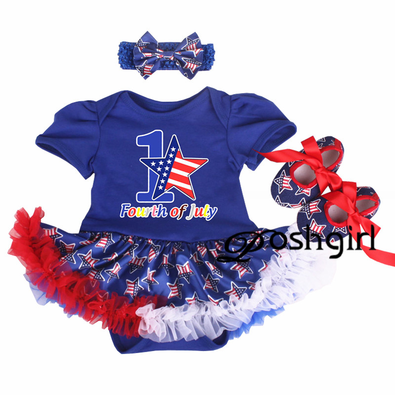 America Patriotic Infant Clothes Newborn Clothing in 4th of July Baby gown Romper Dress baby romper jumpsuit Halloween Xmas Gift