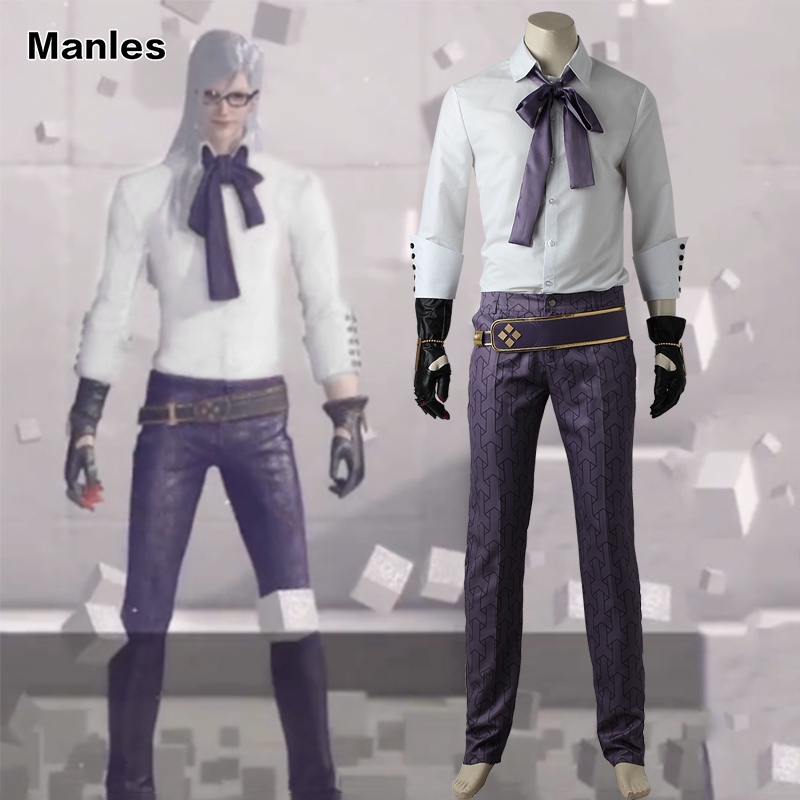 NieR Automata Adam Cosplay Costume White Suit Halloween Carnival Outfit Gentlman Clothing Shirt Pants Game Whole Set Adult Men