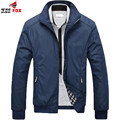 Men Jacket 2016 Hot Sale Spring Autumn Men's Solid Fashion Jacket Male Casual Slim Fit Mandarin Collar Jacket 3 Colors 4XL,5XL