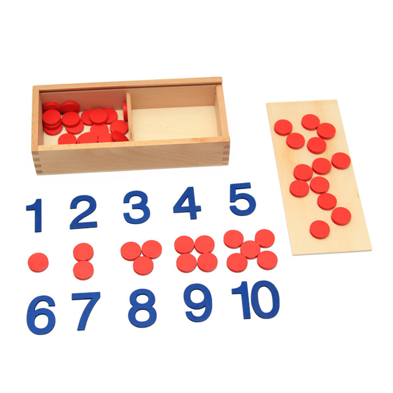 Baby Toy Montessori Kort och räknare Math Nummer Förskoleutbildning Förskoleutbildning Barnleksaker Brinquedos Juguetes
