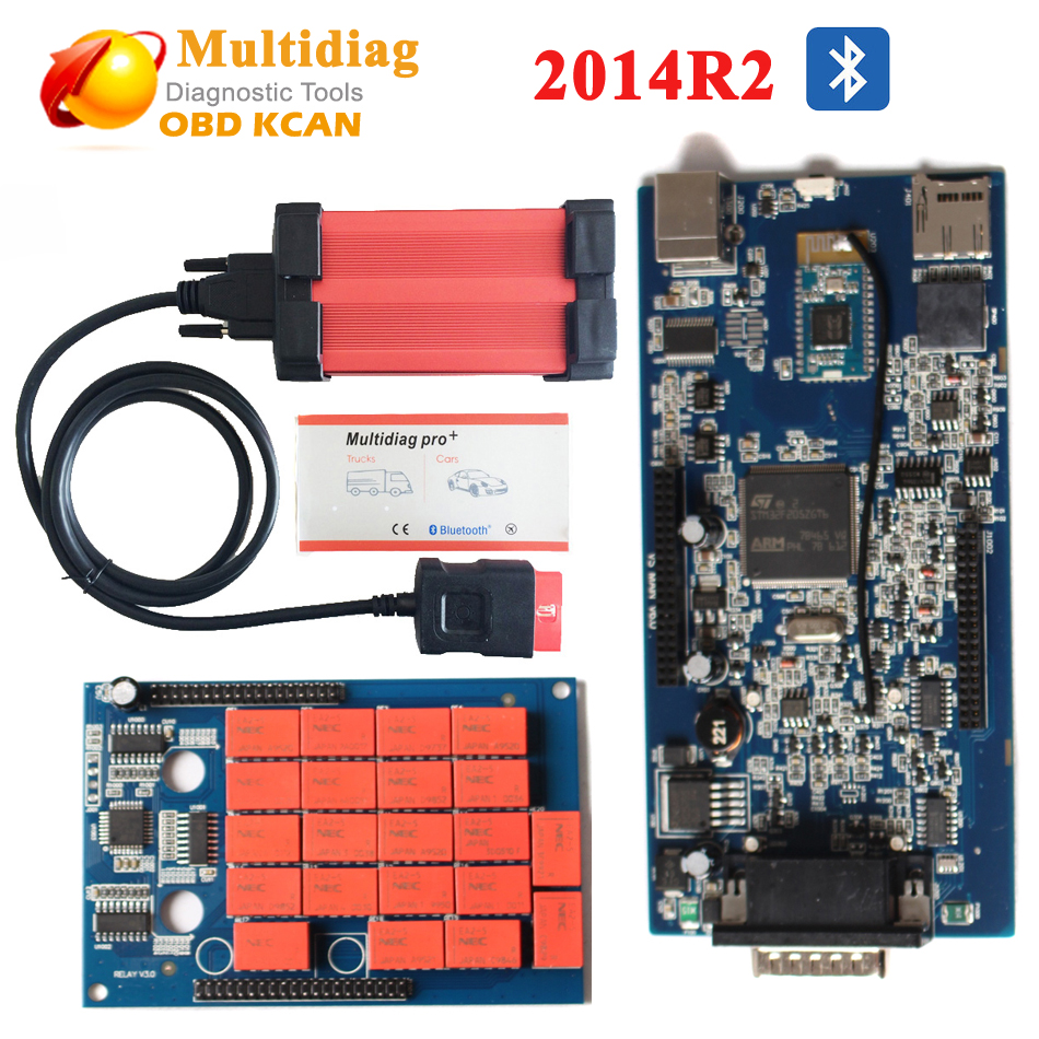 tcs cdp 2014R2 multidiag pro with Bluetooth Multidiag Pro+ auto scanner multi-diag plus for Cars/Trucks OBD2 as MVD