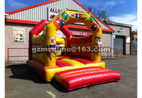 2017 Tropical Carnival Inflatable Bouncer Slide Jumping Castle Inflatable Bounce House With Ball Kits