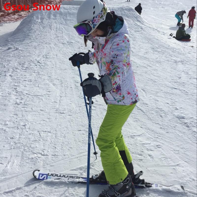 buy cool gsou snow ski jacket women snowboard jacket and pants ski suit female. Black Bedroom Furniture Sets. Home Design Ideas