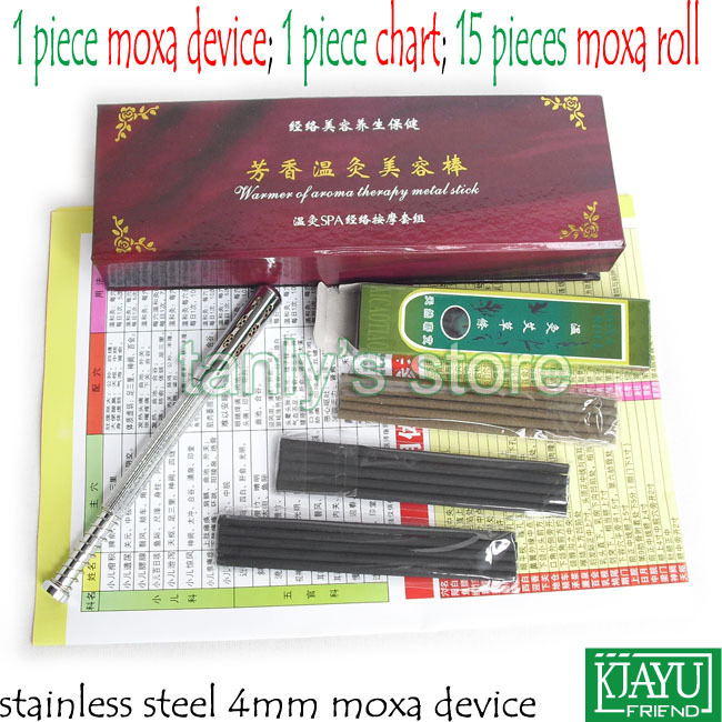 Stainless Steel little Size Eyes Moxibustion Device / Moxa cone (use 4mm moxa roll) pure cupper big size body moxibustion device moxa cone health beauty face tool 9pieces set 45 1 moxa roll