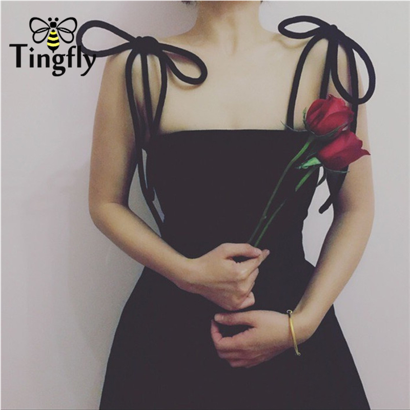 Tingfly 2018 New Elegant Mini Velvet Dress Runway Sexy Off Shoulder Strap Party Dresses Quality A Line Women Black Club Dress