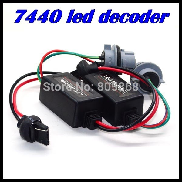 10 xLED Decoder Car LED Light Error Canceller Adapter T20 7440 LED Resistor Cable Canbus Function Wire Warning Flashing Canceler c7 hid can bus car xenon light error warning canceller decoder capacitor canbus capacitors computer decoder