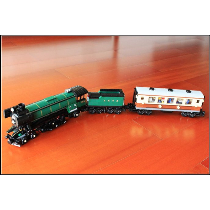 LEPIN 21005 1085Pcs Technic Series Emerald Night Train Model Building Kit Block Bricks Toys Compatible with legeod 2016 new lepin 21005 creator series the emerald night model building blocks set classic compatible legoed steam trains toys
