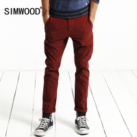 SIMWOOD 2016 New Autumn Winter Casual Pants Men Length Fashion Trousers Slim Fit Brand Clothing KX5525