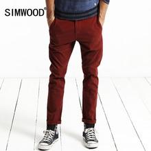 Simwood 2016 neue herbst winter casual hosen männer länge mode hosen slim fit marke kleidung kx5525