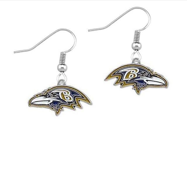 5pairs Football Baltimore Ravens Drip Earrings S Sports 2017 Fashion Jewelry