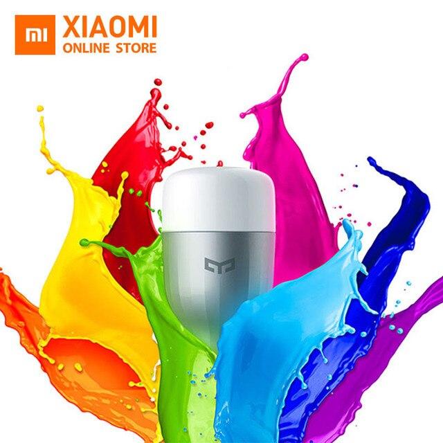Original Xiaomi Yeelight Blue LED Smart Bulb (Color) E27 9W 600 Lumens Mi Light Xiaomi Mijia Smart Phone WiFi Remote Control