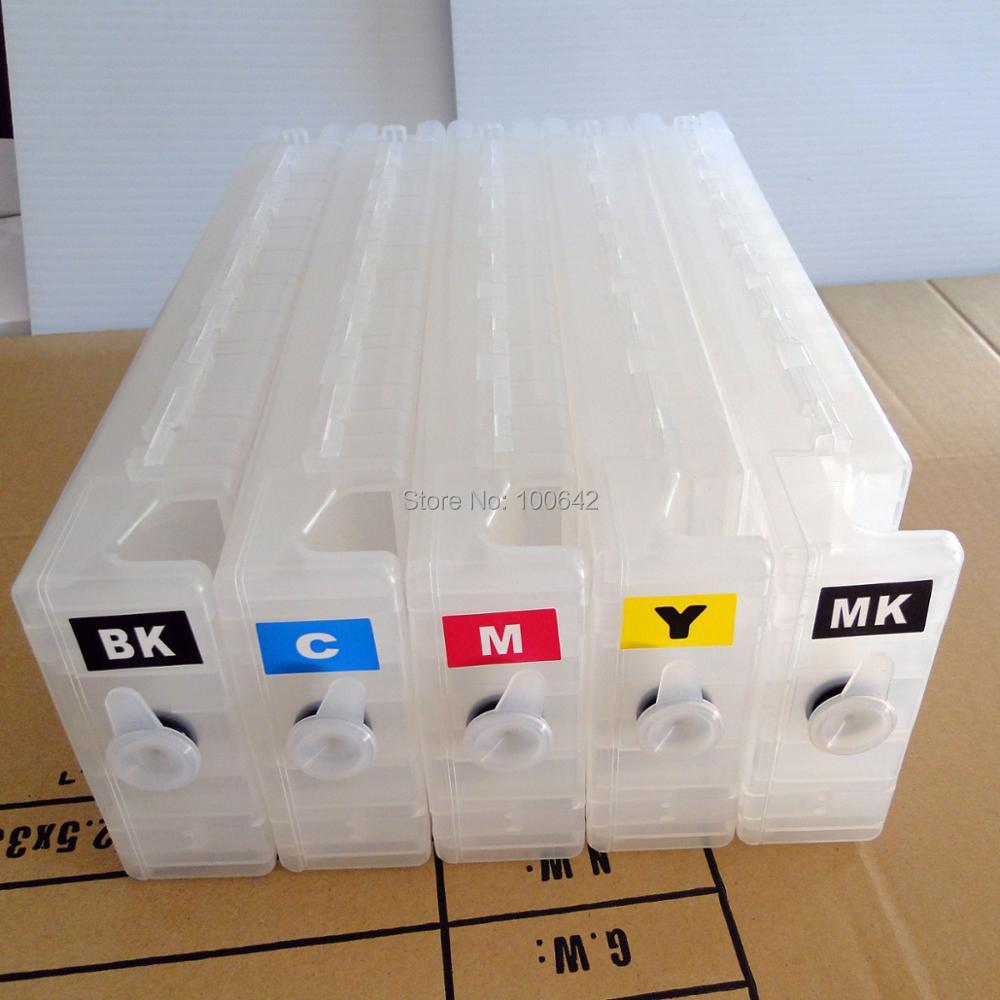 YOTAT 5 pcs T6941 for Epson SureColor T7200 T5200 T3200 empty refillable ink cartridge T6941 T6942 T6943 T6944 T6945