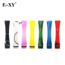 E-XY 510 Curve Resin Drip Tips Electronic cigarette 510 RDA RTA RBA RDTA Atomizer E Cigartte Shape Unique Drip Tips 2 Pieces