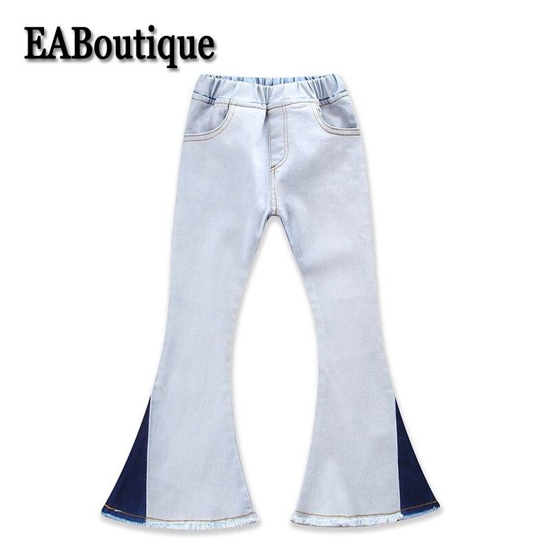 EABoutique Kids Jeans Winter Autumn Fashion Color Patch