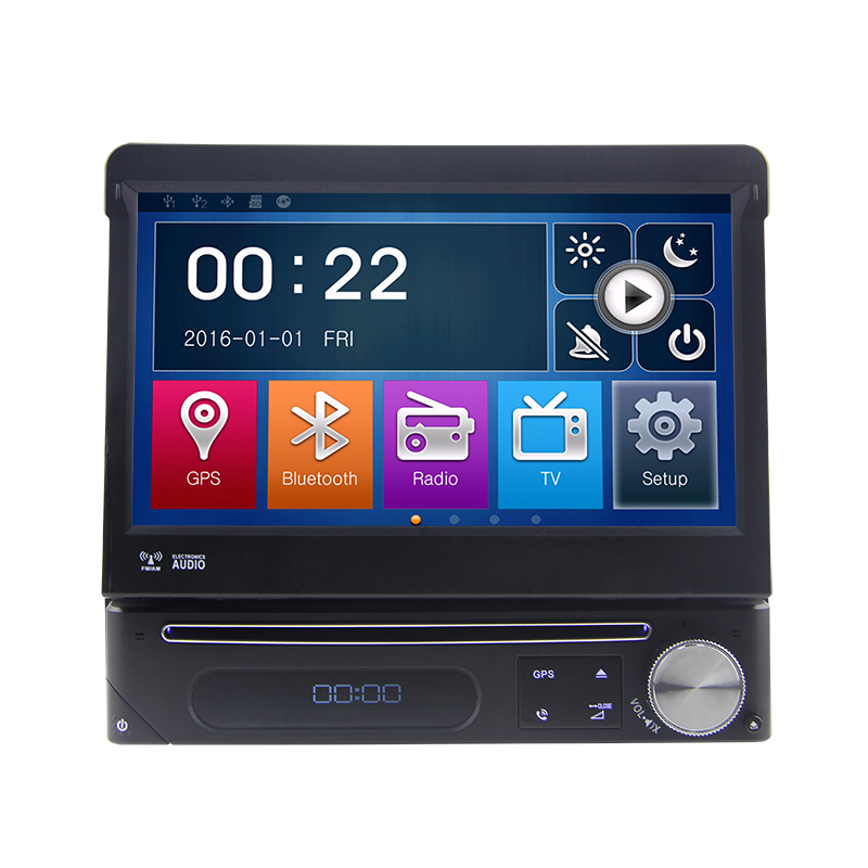 Eunavi Single 1 Din universal 7'' Car Dvd Player Autoradio Car Gps Navigation For Universal Car With Touch Screen Stereo image