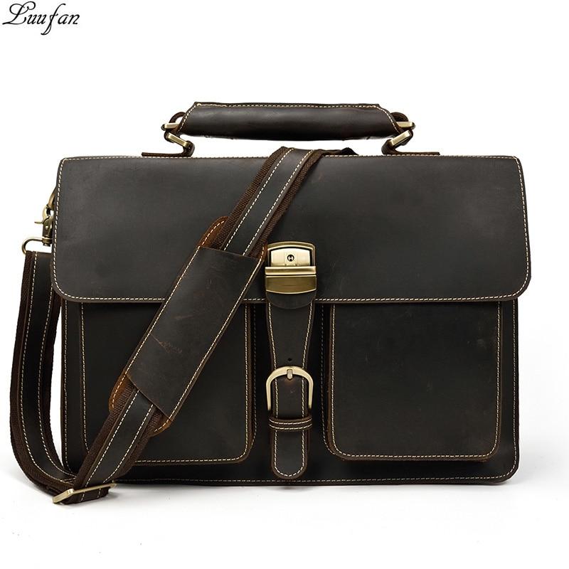 Matilda520 Business Computer Bag Waterproof Shoulder Bag Male Business Bag Color : Red, Size : 15inch