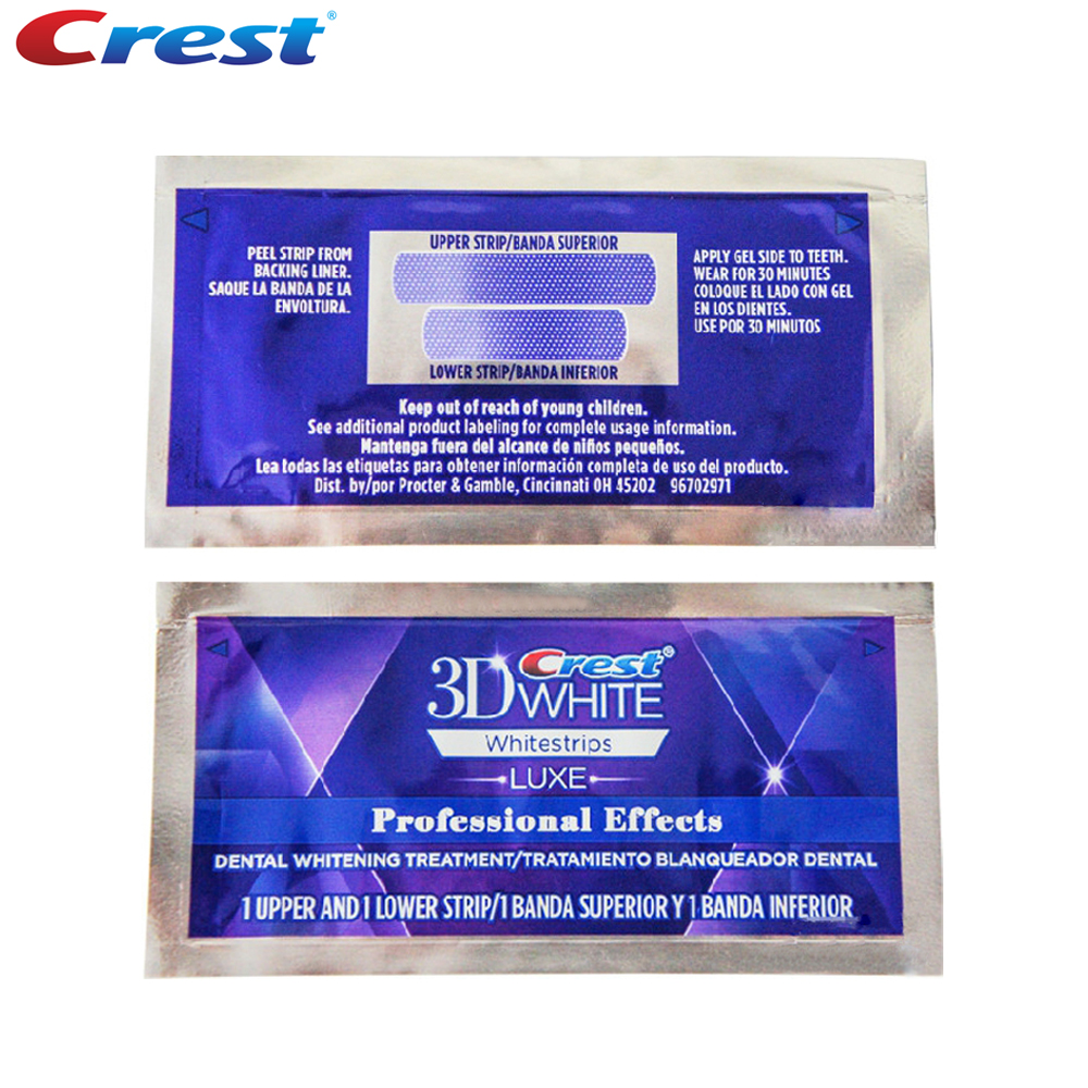 5 Pouch/10 Strips Crest 3D White Whitestrips LUXE Original Professional Effects Teeth Whitening Strips Tooth Bleaching Gel 3