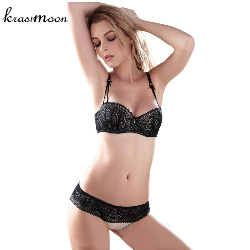 ABCDE Cup Sexy Women   Bra     Set   ultra-thin Lace Embroidery Push Up   Bra   Panty   Set   Underwear   Bra     Sets   Plus Size Sexy Lingerie   Set   B54