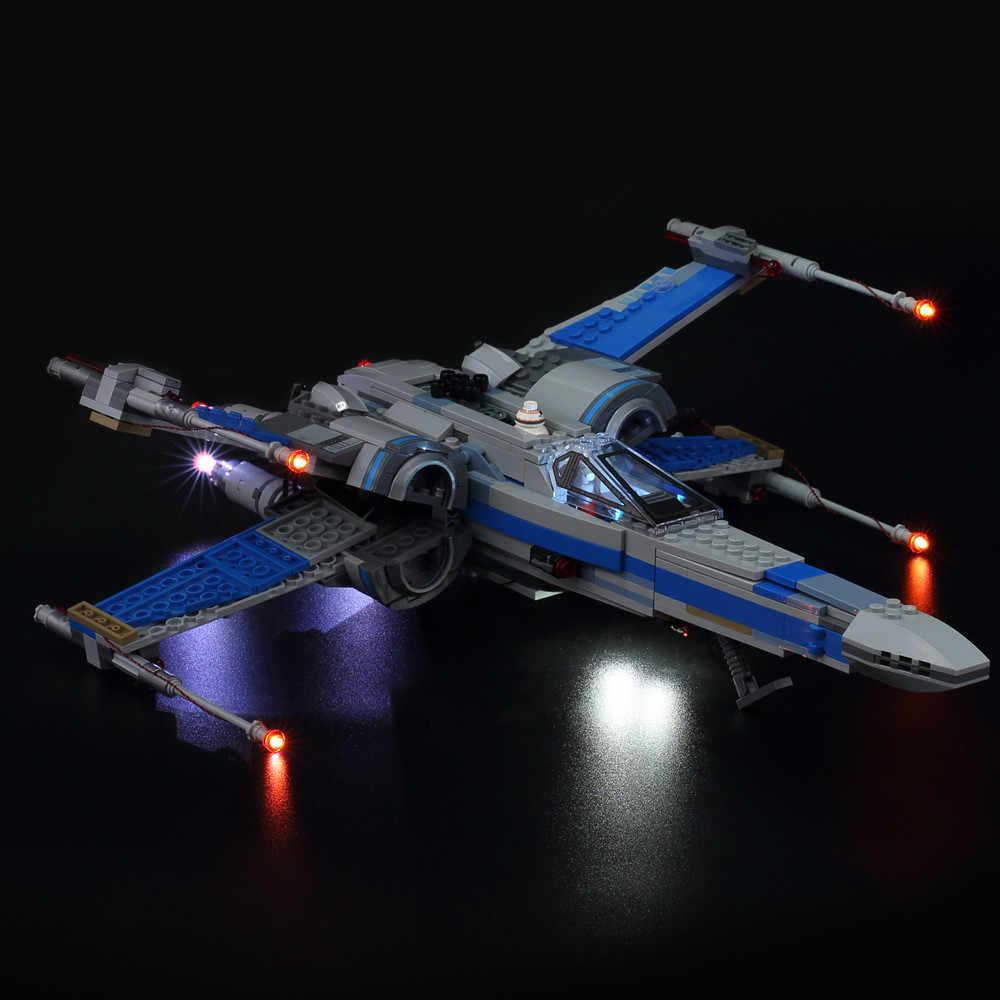 Kyglaring LED Light Up Kit для блоков Звездные войны Poe X-Wing Fighter Building Block Light Set совместим с Lego 75102