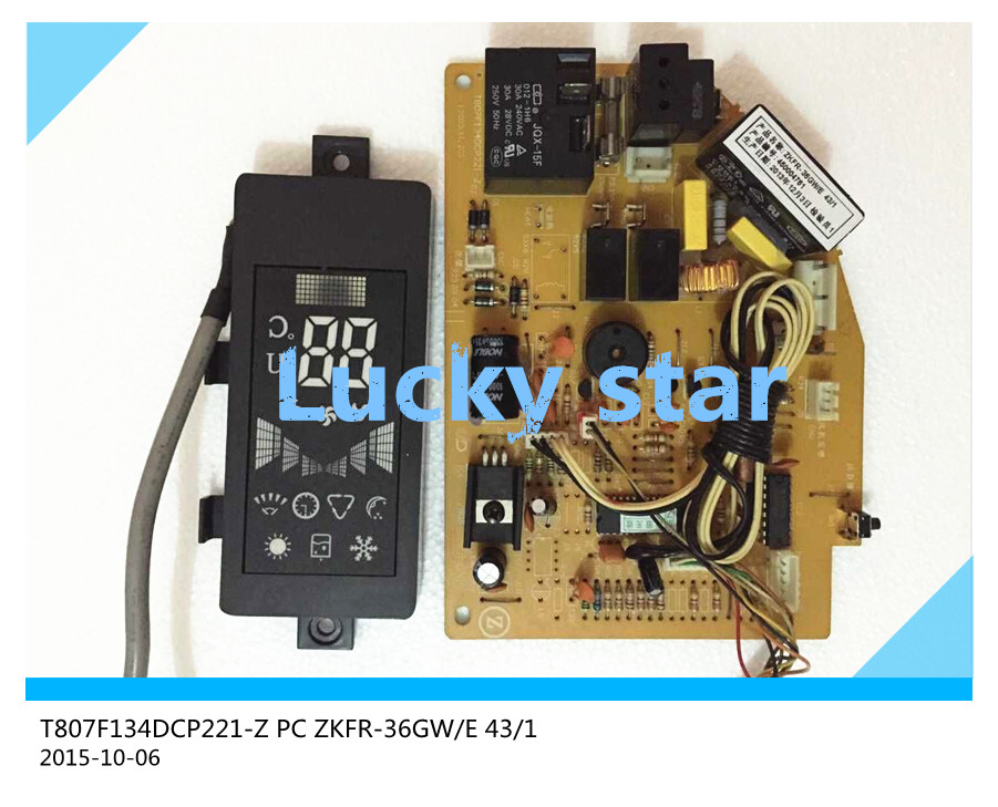ФОТО 95% new for Chigo Air conditioning computer board T807F134DCP221-Z PC ZKFR-36GW/E 43/1 board good working set
