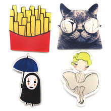 Baru Kemeja Lucu Harajuku Acrylic Bros Lencana Kartun Dekorasi lapel pins icon cat Gambar Batman Simpson Bros Broche BR0001(China)