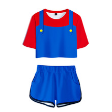 цена на Mario Women Outfits Two Piece Set Women Outfit 3D T-Shirt Women's Suit Shorts Summer Top Ensemble Femme Women Two Piece Outfits