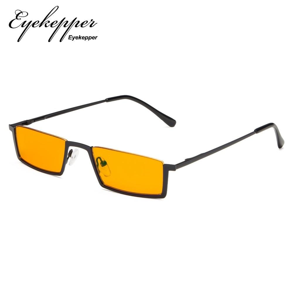 DS1613 Eyekepper Blue Light Blocking Glasses Half Rim Computer Glasses Nighttime Eyewear Special Orange Tinted Eyeglasses