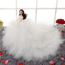 46cm Creative Pretty Bride Doll Romantic Wedding Dress 8 Joint Moveable Body Beautiful
