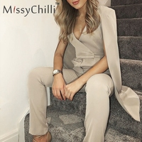 MissyChilli Cloak deep v neck sexy jumpsuit Women white office high waist long playsuit Casual elegant jumpsuit rompers overalls