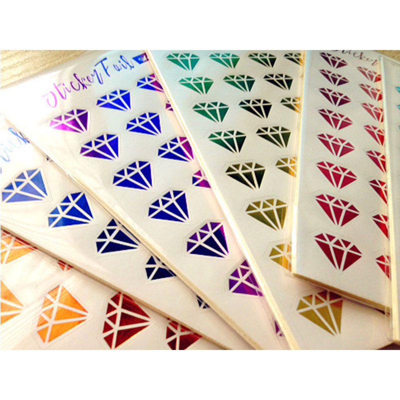 6 Sheets/pack Creative Kids DIY Bronzing Stamping Diamond Lips Stickers Scrapbook Sticky Notes Decoration Children Classic Toys
