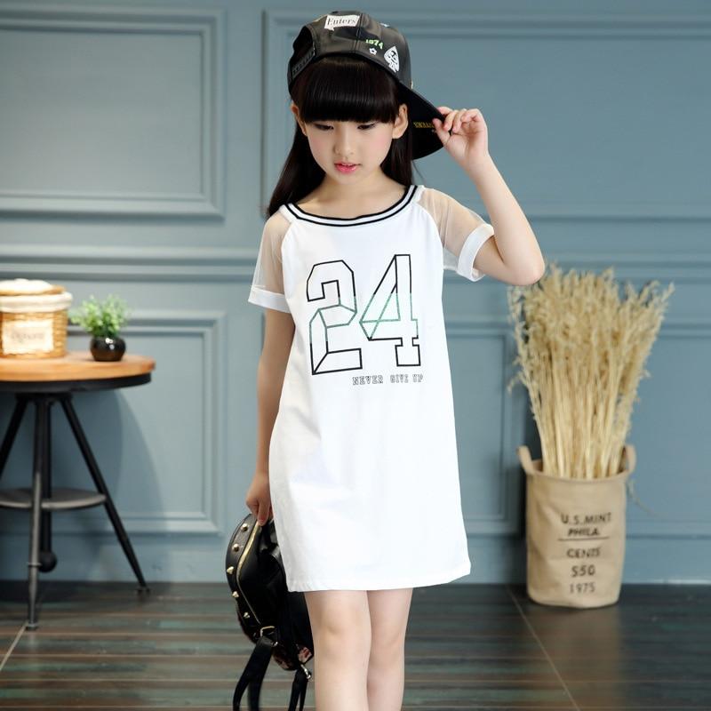 Kids Summer 2016 New Korean Girls Dress Girls Fashion Casual Short Sleeved In Dresses From