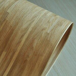 Image 5 - טבעי פרקט עץ פורניר רוסית אלון פורניר צלב לחתוך עם תומך צמר