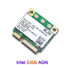 Dual band Wireless Intel 5300 533AN_MMW 2.4Ghz 5Ghz 300M/450Mbps 802.11 a/g/n Mini PCI-E Half Wlan Wifi Card