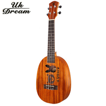 23 Inch Wooden Guitar 18 frets Ukulele Couple Models Mahogany Mini Hawaii 4 Strings Guitars Pineapple Barrel Ukulele UC-BOTU