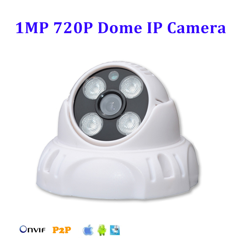 Фото 1280*720P 1.0MP HD ONVIF IP Camera P2P Plug and Play Indoor Network IP Camera IR-CUT Night Vision Network Dome Camera IP Cam